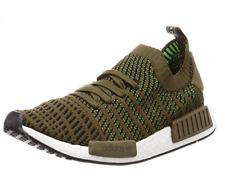 Adidas Originals Men's NMD_R1 STLT PK Running Shoe, Olive/Black, 12 M