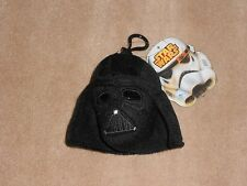 NEW, STAR WARS DARTH VADER PLUSH BACKPACK CLIP WITH ZIPPER POUCH