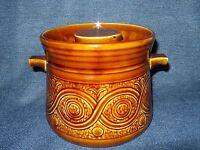 Retro Ellgreave Pottery Saxony Casserole/ Tureen Bowl Caramel Treacle Glaze EUC