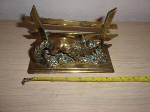 Solid brass desk letter rack