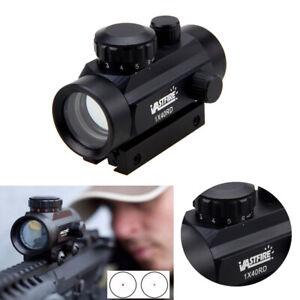 Tactical Illuminated 1x40 Green /Red Dot Sight Scope w/ 11/20mm Rail Rifle Mount