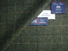 Abraham Moon PURE NEW WOOL TWEED JACKETING FABRIC –MADE IN ENGLAND BY MOON - 2 m