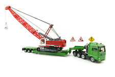 Siku 1:87 1834 Heavy Haulage transporter with excavator and service vechicle