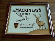 VINTAGE RARE MACKINLAYS SCOTCH WHISKY MIRROR  BAR PUB MIRROR DEER STAG