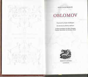 Oblomov by Ivan Goncharov 1968 vgc faux leather laminated hardback illustrated