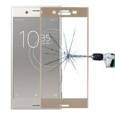 FULL verre blindé 0,26 mm fin H9 doré pour Sony Xperia XZ1 Compact