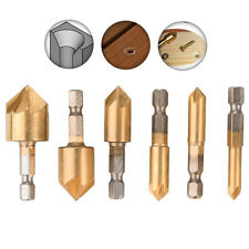 6-pack 5-Flute Countersink Drill Bit 90 Degree Center Punch 6-19mm Counter Set