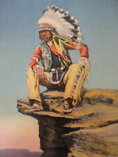 POST CARD Young Indian Scout Unused Vintage