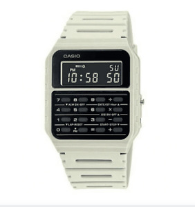 Casio CA-53WF-8B White Calculator Resin Watch for Men and Women