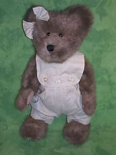 "Boyd's Bears Plush Teddy~ALLISON BEARBURG~16""~VINTAGE~QVC Exclusive~Hard To Find"
