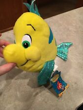 "Disney The Little Mermaid Flounder 8"" Plush NWT! By Applause"