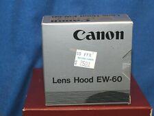 NOS Canon EW-60 Tulip Lens Hood Mint in Orig Box for Canon EF 24mm Lens