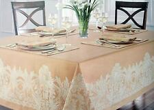 Waterford Jacquard Floral Pattern / Wheat and Tan  Assorted Sizes 100% Cotton