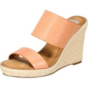 Dolce Vita Womens Lotty Crocodile Slip On Clog Wedge Heels Shoes BHFO 7473