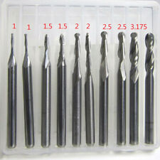 Shank Carbide Ball Nose End Mill Cnc Engraving Router Bit Kit 2 Flutes Replace