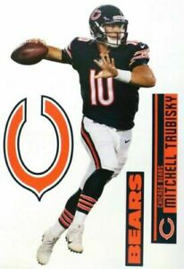 Mitchell Trubisky Chicago Bears Fathead Teammate Sticker Wall Decal 11x17