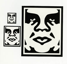 OBEY GIANT Shepard Fairey 3 STICKER LOT Set #24 *BRAND NEW* X-Large Size! Andre