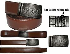 "Men's belt, Genuine Leather Dress Casual Lizard skin printed Buckle up to 50"""
