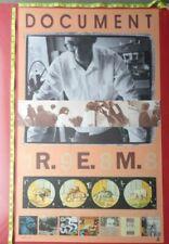 "R.E.M. Document,Original Record company Promo poster, 24x39"""