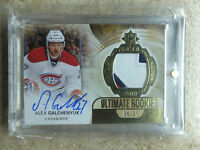 13-14 UD Ultimate Autographed Rookies Patch 3 CLR #177 RC ALEX GALCHENYUK /25