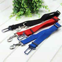 Adjustable Pet Dog Harnesses Seat Belt Lead Restraint Strap Car Safety 4 COLOURS