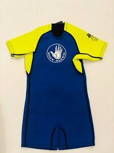 Body Glove Childs Spring Shorty Wetsuit Size C4 Kids 4/6 - Blue & Yellow