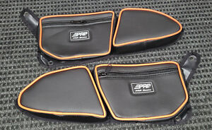 PRP Polaris RZR 900 Trail Stock Door Bag Knee Pad, PAIR-Set of 2, ORANGE Piping