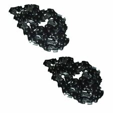 "2 x Chainsaw Saw Chains Fits Qualcast GCS400, PC40 16"" 40cm With 57 Drive Links"