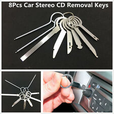 8pc Metal Auto Car Stereo Radio CD Release Removal Keys Tool Set GPS Audio Tools