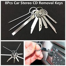 8pc Metal Auto Car Stereo Radio CD Release Removal Keys Tool Set GPS Audio Tools