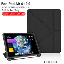 For iPad Air 4 10.9 2020 8th 7th 10.2 9.7 10.5 Smart Case Cover With Pencil Slot