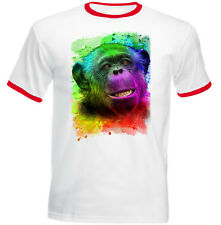 MONKEY 1 - NEW COTTON RED RINGER TSHIRT