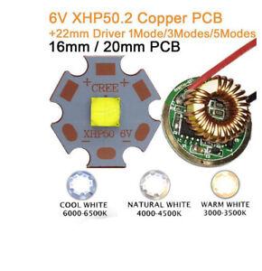 18W CREE 6V XHP50.2 High Power LED Emitter 16mm 20mm PCB+22mm 1/3/5 Modes Driver