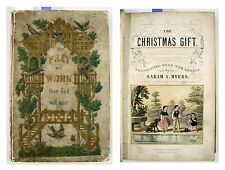 1855 THE CHRISTMAS GIFT: Pray and Work Then God Will Help! HandColored Plates VG