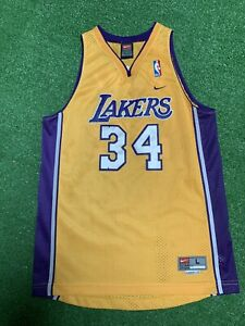 Vintage Nike Team Los Angeles Lakers Shaquille O'Neal Swingman Jersey Youth Sz L