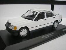 MERCEDES BENZ 190e 1982 White 1/18 Minichamps 155037002