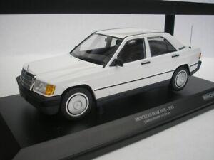 Mercedes Benz 190E 1982 White 1/18 minichamps 155037002 New