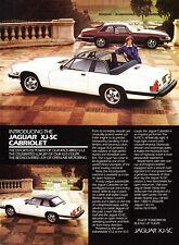 """1986 Jaguar XJ-SC Cabriolet & Coupe photo """"Race-Bred"""" vintage promo print ad"""