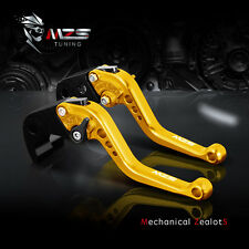 MZS Gold Short Clutch Brake Levers For Aprilia RSV MILLE / R 2004-2008 749/S/R