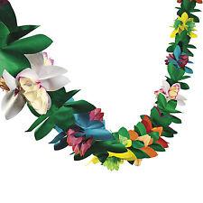 Hawaiian Tropical Flower Garland 9ft Luau Beach Tiki Pool Party Decoration