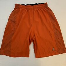Nike Air Jordan Jumpman Shorts Orange Large Dri-fit