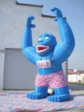 20ft Inflatable Blue Gorilla Advertising Promotion with Blower 110/220v A