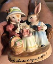 AVON PRECIOUS MOMENTS Rabbit Bunny Figurine--Which Shade Do You Prefer ?