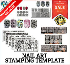 5 Piece Nail Art Stamp Stamping Kit Template Image Plates Manicure Design Tools