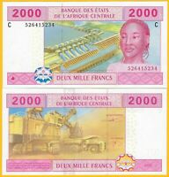 Central African States 2000 Francs Chad (C) p-608Cc 2002 UNC