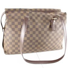 Auth LOUIS VUITTON CHELSEA Shoulder Tote Bag Purse Damier N51204 Brown
