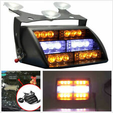 18LED  AMBER WHITE Auto Car Dash Windshield Emergency Warning Strobe Flash Light