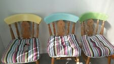 dining chairs solid wood (beech) padded fabric seats