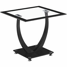 Seconique Henley Lamp Table Clear Glass With Black Border