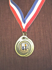 "achievement medal 1  3/4"" dia with patriotic drape"